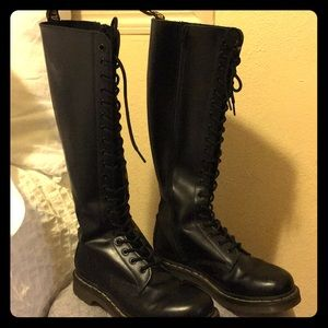 Dr. Martens knee-high black boot w/ inside zip